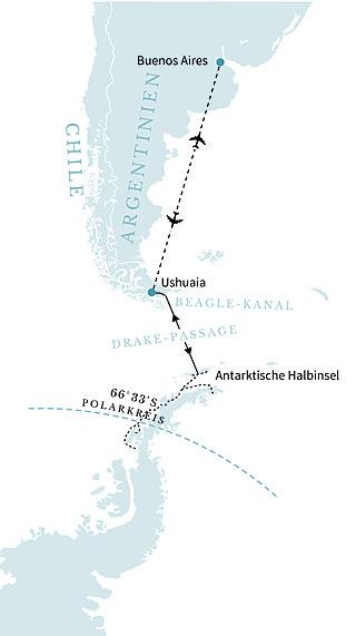 AntarAntarktis- Breitengrad 66. jenseits der magischen Grenze